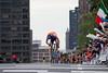 Gesink checks his advantage as he climbs towards the finish line.