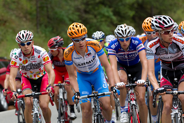 Danielson also was near the front of the pack at the base of the climb.