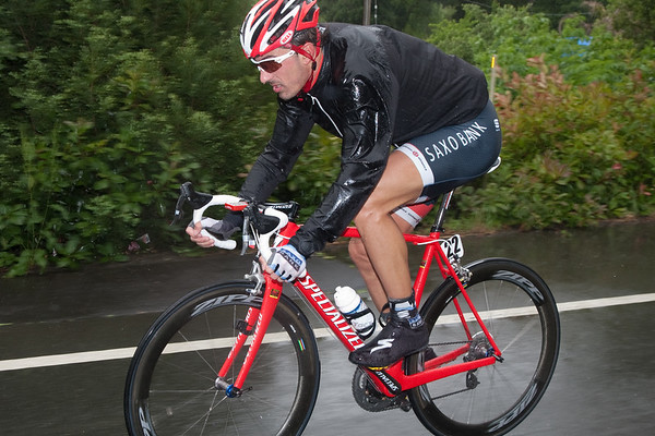 """Cancellara seems to be wondering about the promised """"better weather"""" of May."""