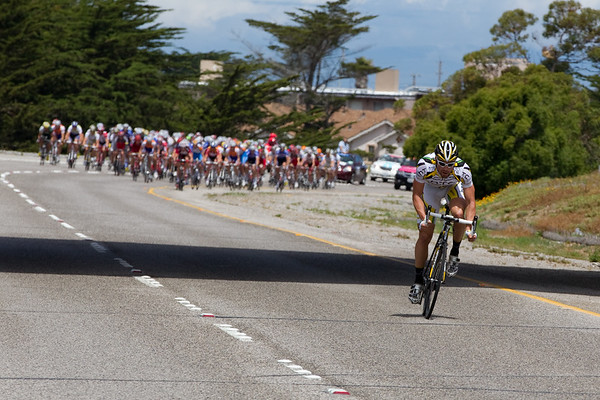 ... but the peloton soon swallows this attempted escape as well.