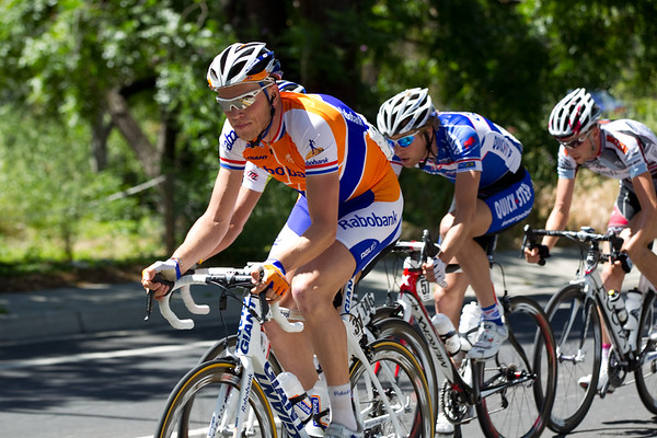 Well, it is just one attack, by Rabobank's Lars Boom, which has attracted six others on the way to the Sierra road climb.