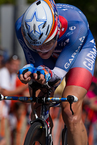 Dave Zabriskie had his head down and gave it his all, but fell 27 seconds short today on this technical course.