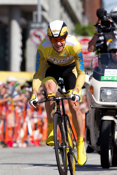 """Michael Rogers was second on the day, 22"""" back; putting time into all of his GC rivals."""
