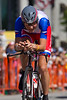 """Jani Brajkovic wore his national colors with pride, riding to 18th, 1'57"""" back."""