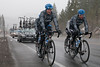 Dave Zabriskie and a few other members of the Garmin team chose to get a few miles in after the stage was cancelled.
