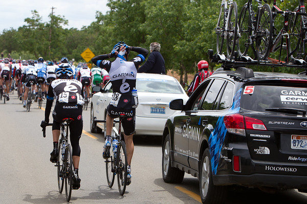 Vandevelde is tapped for bottle duty for Garmin during this shortened stage.