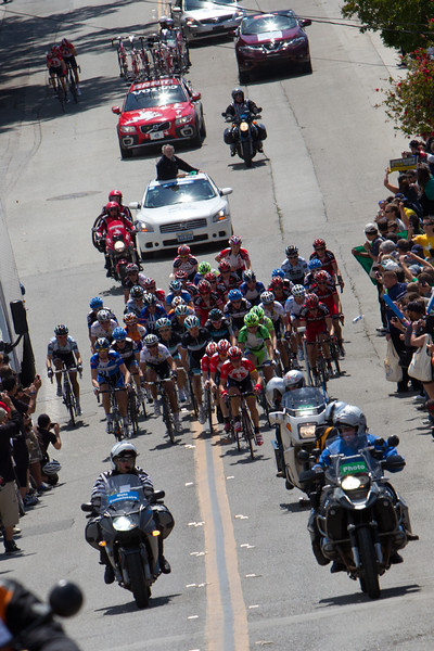 Job done, Zubeldia and Muravyev fall back as the select group 35 or so beging the Sierra Road climb.