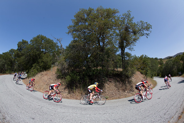 ...and they're doing it from the front  today as they descend... a break is up the road.