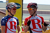 Ben King and Levi Leipheimer are all smiles; what does RadioShack have up its sleeve for today?