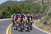 Robbie McEwen seems to be enjoying his last tour, joking at the front of the peloton.