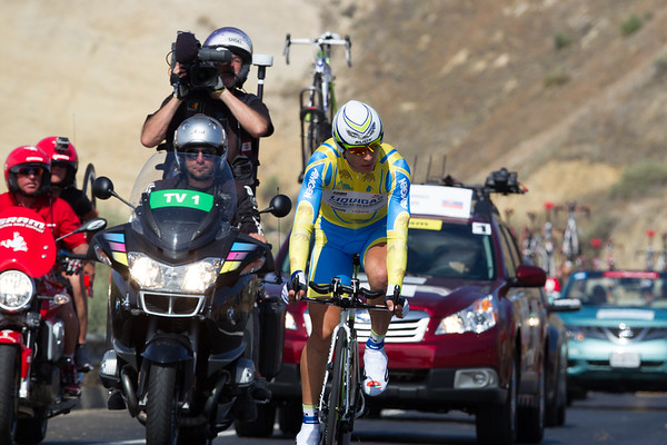Sagan finally was unable to take a stage; he was un-done by the time trial - he finished in 52nd place, 3:27 off the winning time.
