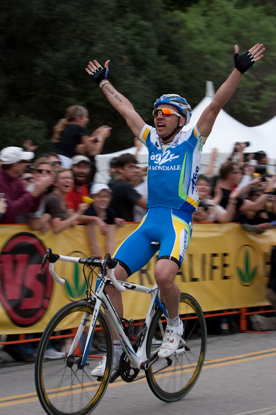 """Rinaldo Nocentini of AG2R heeded his tattoo... it reads """"Carpe Diem"""" - he won the stage!"""