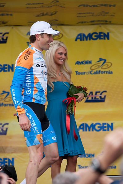 Christian VandeVelde was awarded the Most Courageous Rider's jersey today.