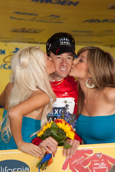 Jason McCartney wins the King of the Mountains for the 2009 Amgen Tour of California after Mancebo crashed while in the lead of that competition.
