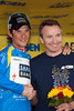Frank Schleck is awareded the Breakaway from Cancer Most Courageous Jersey for stage 8 of the Amgen Tour of California.