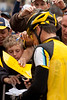 Lucky lad... gets Lance's autograph...