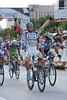 Mark Cavendish wins the slightly uphill sprint easily over JJ Haedo and Thor Hushovd