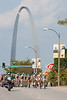 The Gateway Arch made for a great backdrop along a good portion of the route.