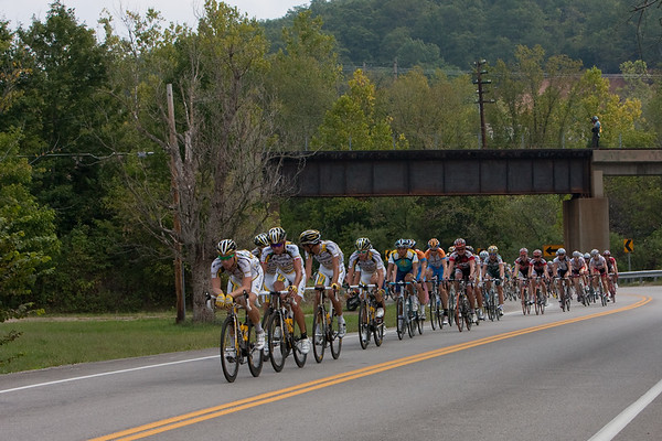 Is this yesterday or the day before? Three up the road and Columbia are setting tempo on the front.