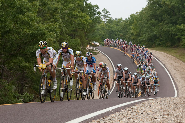 Pretty relaxed now, as the pack rolls along through the Mark Twain National Forest.