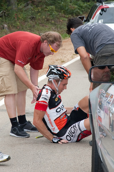 ...and another silly crash back in the pack. Ouch sums it up pretty well. Brad White was able to finish today.