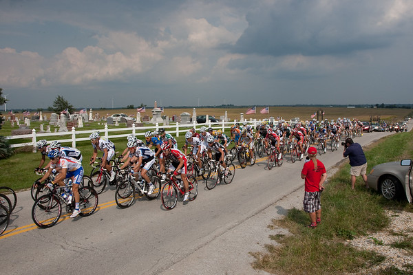 ...but he's been caught by the time the peloton reaches King City, about 20 miles later.
