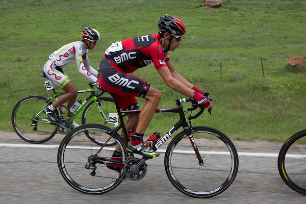 George Hincaie, in his last race as a professional, sure wasn't riding like a soon to be retiree in the break.