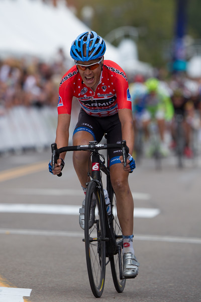 Danielson just holds off the charge - winning by just two seconds over Caruso and Fuglsang.