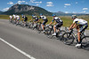 Team Exergy and Garmin came to the front as they neared the final climb.