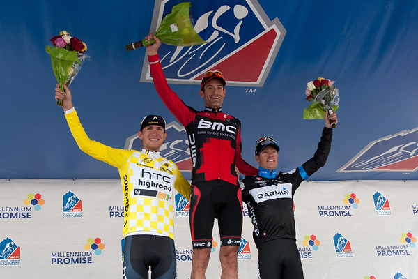 The podium for the day shows an American sweep, with Tom Danielson rounding out the top three.