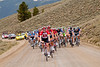 The peloton seems content to save the larger attacks for the second climb over 12,000 feet.