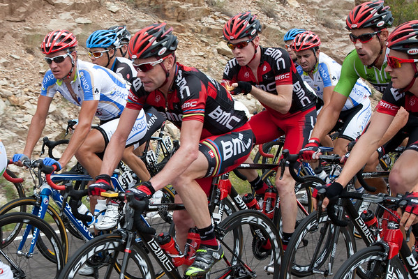 Cadel seems to be enjoying the company of his mates...