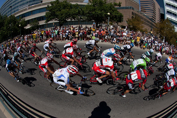 Denver's streets were lined three deep for most of the course...