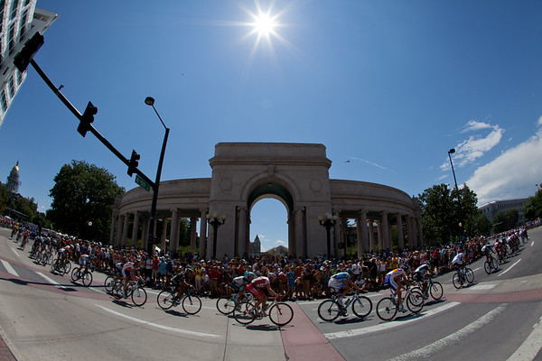 ...as the riders passed through the capital city of Colorado.