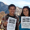 Indigenous Yosemite Indians in their native home taking a stand.