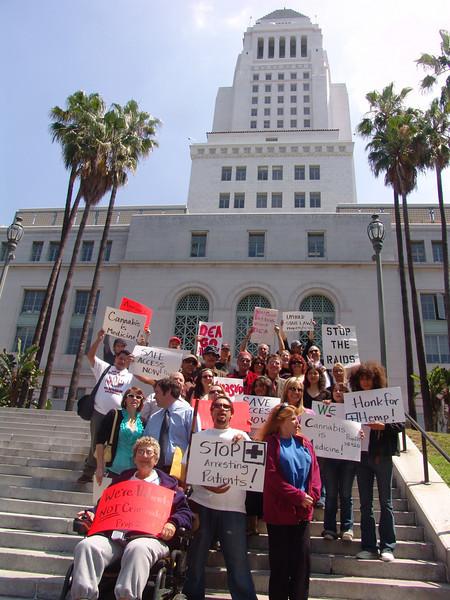 La City Hall Medical Marijuana Demonstration.