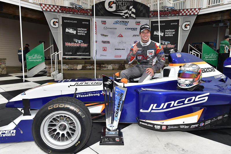 Victor Franzoni, campeón de Pro Mazda, manejará un Indy Lights este fin de semana (FOTO: Chris Owens/IMS Photo/Road to Indy)