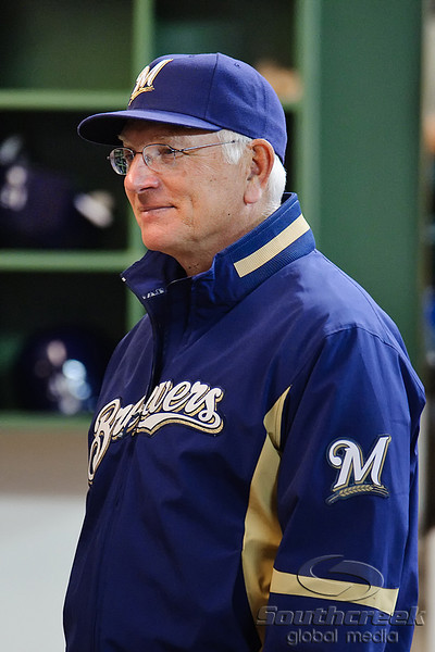 23 April 2010:   Milwaukee Brewers Manager Ken Macha prior to the game between the Milwaukee Brewers and Chicago Cubs at Miller Park in Milwaukee, Wisconsin.  The Cubs defeated the Brewers 8-1.  Mandatory Credit: John Rowland / Southcreek Global