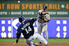 06 April 2010: Colorado Rockies second baseman Clint Barmes (12) turns a double play during the game between the Colorado Rockies and Milwaukee Brewers at Miller Park in Milwaukee.  The Brewers won 7-5.<br /> Mandatory Credit: John Rowland / Southcreek Global