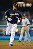 06 April 2010:  Milwaukee Brewers third baseman Casey McGehee (14) rounds the bases after hitting a home run during the game between the Colorado Rockies and Milwaukee Brewers at Miller Park in Milwaukee.  The Brewers won 7-5.<br /> Mandatory Credit: John Rowland / Southcreek Global