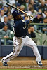 06 April 2010:  Milwaukee Brewers second baseman Rickie Weeks (23) hits an infield pop up during the game between the Colorado Rockies and Milwaukee Brewers at Miller Park in Milwaukee.  The Brewers won 7-5.<br /> Mandatory Credit: John Rowland / Southcreek Global