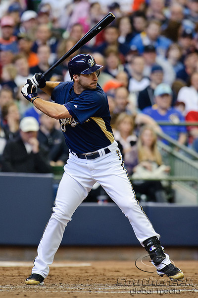 03 April 2010:  Milwaukee Brewers left fielder Ryan Braun (8) during the exhibition game between the Detroit Tigers and Milwaukee Brewers at Miller Park in Milwaukee.  The Brewers came from behind in the 9th inning to win 13-12.<br /> Mandatory Credit: John Rowland / Southcreek Global