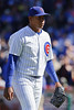 18 April 2010:  Chicago Cubs relief pitcher Carlos Marmol (49) during the game between the Houston Astros and Chicago Cubs at Wrigley Field in Chicago, Illinois.  Mandatory Credit: John Rowland / Southcreek Global