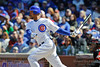 18 April 2010:   Chicago Cubs first baseman Derrek Lee (25) at bat during the game between the Houston Astros and Chicago Cubs at Wrigley Field in Chicago, Illinois.  Mandatory Credit: John Rowland / Southcreek Global