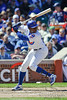 18 April 2010:  Chicago Cubs left fielder Alfonso Soriano (12) bats during the game between the Houston Astros and Chicago Cubs at Wrigley Field in Chicago, Illinois.  Mandatory Credit: John Rowland / Southcreek Global