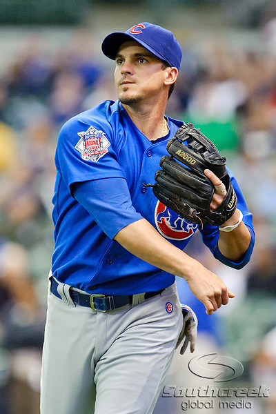 25 April 2010:  Chicago Cubs shortstop Ryan Theriot (2) warms up prior to the game between the Milwaukee Brewers and Chicago Cubs at Miller Park in Milwaukee, Wisconsin.  The Cubs defeated the Brewers 12-2 to sweep the 3 game series.  Mandatory Credit: John Rowland / Southcreek Global