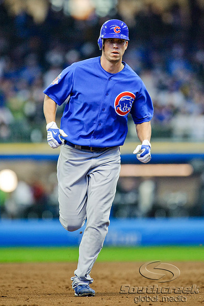 25 April 2010:  Chicago Cubs left fielder Tyler Colvin (21) rounds the bases after his 3rd inning home run during the game between the Milwaukee Brewers and Chicago Cubs at Miller Park in Milwaukee, Wisconsin.  The Cubs defeated the Brewers 12-2 to sweep the 3 game series.  Mandatory Credit: John Rowland / Southcreek Global