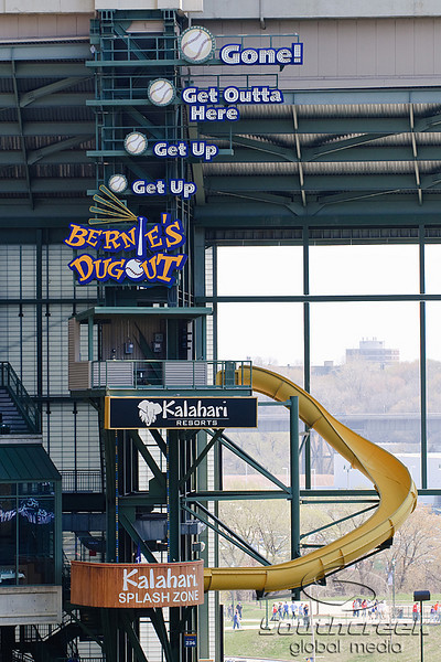 10 April 2010:  An interior photo of Miller Park prior to the game between the St. Louis Cardinals and Milwaukee Brewers at Miller Park in Milwaukee.  The Cardinals defeated the Brewers 7-1.  Mandatory Credit: John Rowland / Southcreek Global
