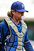 10 April 2010:   Milwaukee Brewers catcher Gregg Zaun (9) prior to the game between the St. Louis Cardinals and Milwaukee Brewers at Miller Park in Milwaukee.  The Cardinals defeated the Brewers 7-1.  Mandatory Credit: John Rowland / Southcreek Global