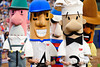 10 April 2010:   The racing sausages compete during the 7th inning stretch of the game between the St. Louis Cardinals and Milwaukee Brewers at Miller Park in Milwaukee.  The Cardinals defeated the Brewers 7-1.  Mandatory Credit: John Rowland / Southcreek Global